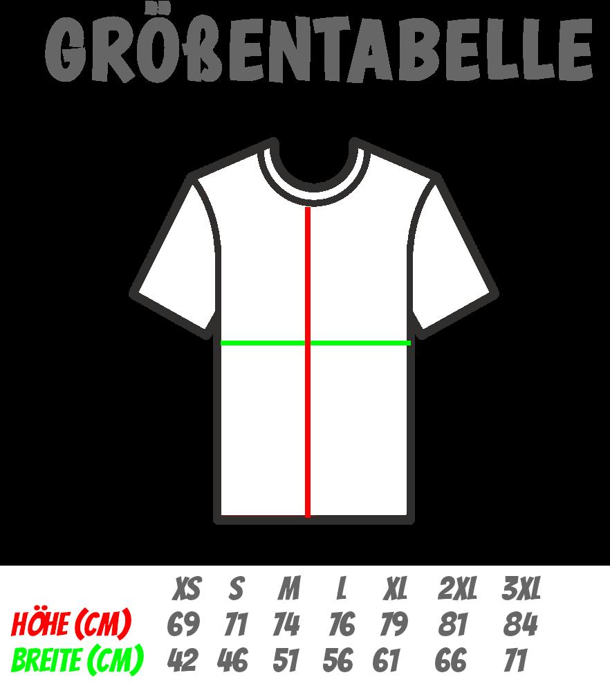 Ruhrpott T-Shirts Größentabelle